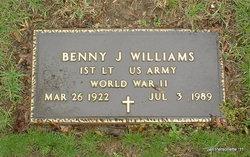 Lieut Benny J Williams