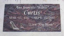 """Ann Jeanette """"Jeanie"""" Curtis"""