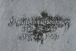 "Missouri ""Maggie"" <I>Barnes</I> Akins"