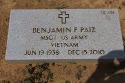MSgt Benjamin F Paiz