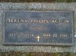 Serena <I>Philips</I> Acton