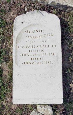 Jennie <I>Anderson</I> Claggett