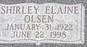 Shirley Elaine <I>Olsen</I> Kirkman