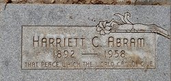 Harriett C. <I>Farnsworth</I> Abram