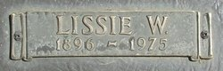"Phalissie Ann ""Lissie"" <I>Williams</I> Aldridge"