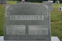 Willie Bet <I>Hagler</I> Blackwelder