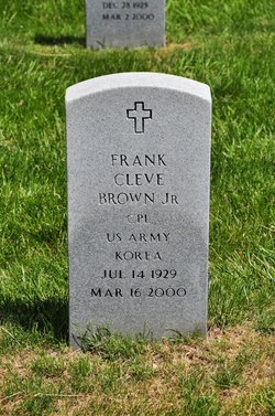 Corp Frank Cleve Brown, Jr