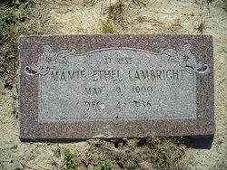 Mamie Ethel <I>Gray</I> Lambright