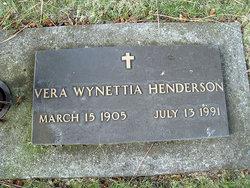 Vera Wynettia <I>Mooney</I> Henderson