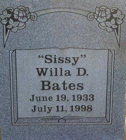 "Willa D ""Sissy"" Bates"
