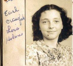 Lois Jean <I>Holmes</I> Crawford