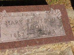 """Maria Berthea """"Mary"""" <I>Knutson</I> Olson"""