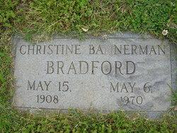 Christine <I>Bannerman</I> Bradford