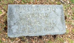 Emma Gertrude <I>Carpenter</I> Aderholdt