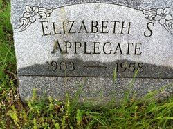 Elizabeth S <I>VanArsdale</I> Applegate
