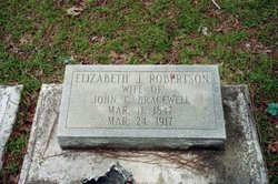 """Elizabeth Jane """"Lizzie"""" <I>Robertson</I> Bracewell"""