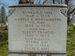Martha P <I>Worthington</I> Abel