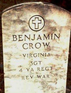 Sgt Benjamin Crow (1758-1832) - Find A Grave Memorial