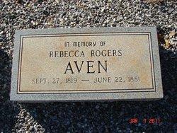 Rebecca <I>Rogers</I> Aven