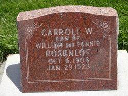Carroll W. Rosenlof