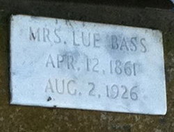"Lougenia Virginia ""Lue"" <I>Washam</I> Bass"