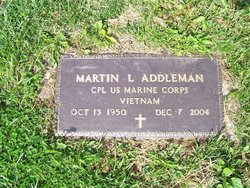 "Corp Martin Luther ""Marty"" Addleman"