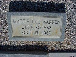 Mattie Lee <I>Alford</I> Warren