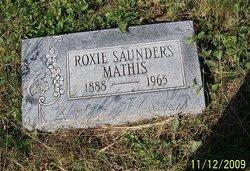 Roxie Jessie <I>Saunders</I> Mathis