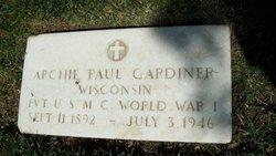 Pvt Archie P Gardiner