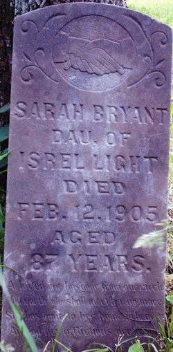 Sarah <I>Light</I> Bryant