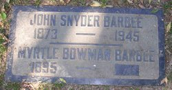 Myrtle <I>Bowman</I> Barbee