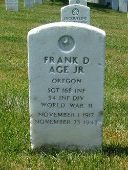 Sgt Frank D Age, Jr