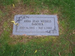 Dr Anna Jean <I>Wessels</I> Babcock