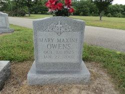 Mary Maxine <I>Adams</I> Owens
