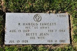 R Harold Fawcett