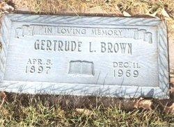 Gertrude Lavon <I>Morton</I> Brown