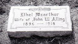 Ethel C <I>McArthur</I> Alling