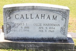 Ollie <I>Hardeman</I> Callaham