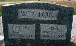 Alice <I>Bishop</I> Weston