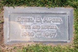 Mrs Ethel Burnham <I>Collins</I> Apger
