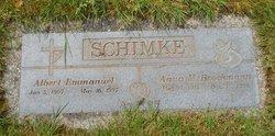 Anna M <I>Brockmann</I> Schimke