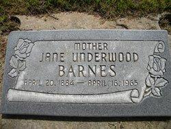 Jane Fannie <I>Black Underwood</I> Barnes