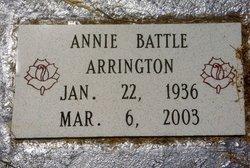 Annie Lee <I>Battle</I> Arrington