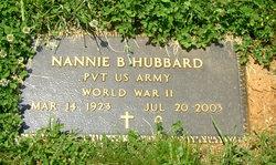 Nannie B Hubbard