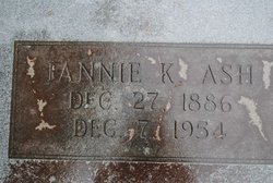 "Frances ""Fannie"" <I>King</I> Ash"