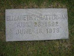 Elizabeth I <I>Poole</I> Hatterman