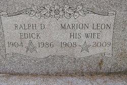Marion <I>Leon</I> Edick