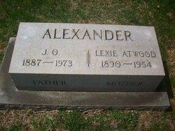 Lexie Etta <I>Atwood</I> Alexander