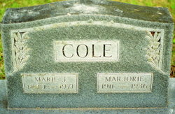 Marie J <I>Ellis</I> Cole