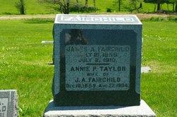 """Anna P """"Annie"""" <I>Taylor</I> Fairchild"""